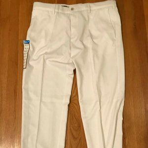 Haggar Cool 18 Pro White Pants Size 38x32 NWT